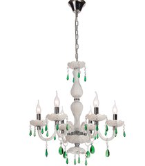 lustre de cristal 6 lâmpadas boyle