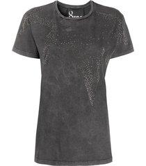 8pm rhinestone-star distressed t-shirt - grey