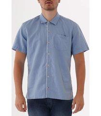 oliver spencer hawaiian shirt - linton sky blue osms102a-lin01sky
