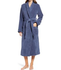 women's nordstrom hydro cotton terry robe, size x-small - blue