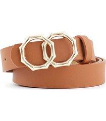 retro bamboo shape double ring decorative belt