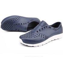 zapatos ligeros de hombre zapatillas zapatillas transpirables sandalias planas huecas azul profundo45