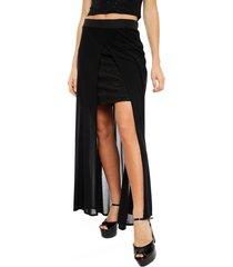 falda io larga negro - calce regular