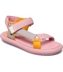 tommy jeans sporty sandal shoes summer shoes flat sandals rosa tommy hilfiger