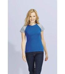 t-shirt korte mouw sols milky bicolor sport