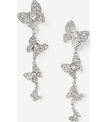 *butterfly drop earrings - clear