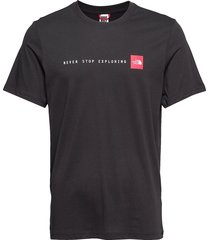 m s/s nse tee t-shirts short-sleeved svart the north face