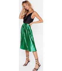 womens emerald city pleat skirt - green