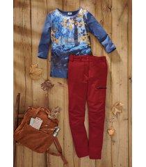 pratici pantaloni elasticizzati in softshell (rosso) - bpc bonprix collection