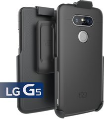 lg g5 holster belt clip case, (slimshield series) ultra slim hybrid shell + dura