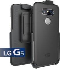 lg g5 holster belt clip case, (slimshield series) ultra slim hybrid shell + dura