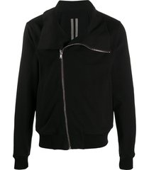 rick owens relaxed biker jacket - black