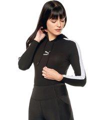 body negro-blanco puma classics ls hooded bodysuit