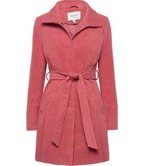 bycirla coat - wollen jas lange jas roze b.young