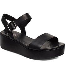 elevate plateau sandal shoes summer shoes flat sandals svart ecco
