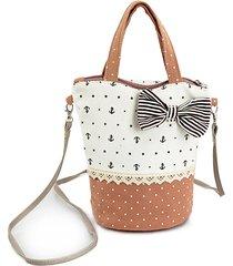 borsa a tracolla rotonda con tela di canapa da donna bag hitcolor crossbody bag