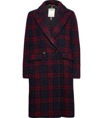 coats woven wollen jas lange jas rood esprit casual