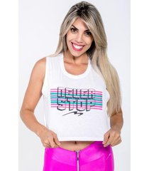 blusa cropped never stop feminina
