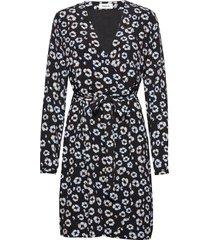 alfred print dress jurk knielengte zwart modström