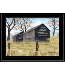 "trendy decor 4u treat yourself mail pouch barn by billy jacobs, ready to hang framed print, black frame, 19"" x 15"""