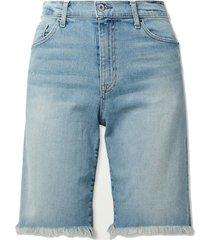 boyfriend frayed denim shorts