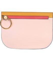 marni designer handbags, brushed leather clutch