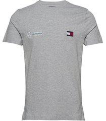 1 mb tech logo tee t-shirts short-sleeved grå tommy hilfiger