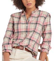 barbour newbury cotton plaid shirt