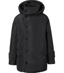 burberry hooded padded down coat - black