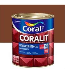 tinta esmalte sintético premium brilhante coralit tradicional tabaco 900ml