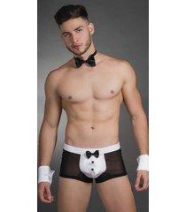 disfraz hombre camarero mesero boxer corbatín