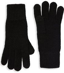 wool-blend knit tech gloves