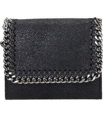 stella mccartney falabella wallet in black faux leather