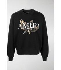 amiri logo-print cotton sweatshirt