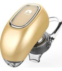 audífonos bluetooth, ff beats estereo hd deportivos luciérnaga diseño ocultado auriculares en el oído audifonos manos libres inalámbrico voz recordatorio para sony iphone samsung (oro)