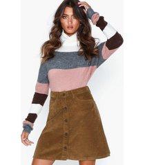 noisy may nmsunny short clr wide cord skirt x minikjolar
