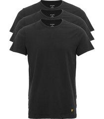 maxwell t-shirts short-sleeved zwart lyle &scott