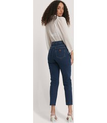 abrand höga smala jeans - blue