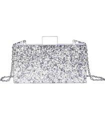 milanblocks confetti acrylic clutch handbag