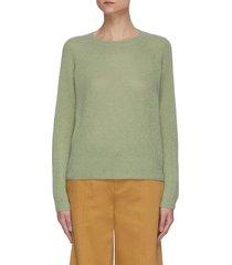 ribbed stitch raglan sweater