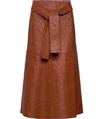 oannaiw skirt knälång kjol brun inwear