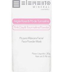 máscara facial elemento mineral argila rosa com pó de turmalina 30g