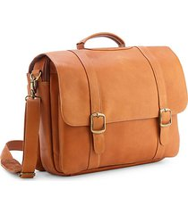 "leather 15"" laptop satchel brief"