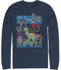 disney pixar men's toy story 95 retro distressed, long sleeve t-shirt