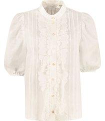 zimmermann amelie linen blouse