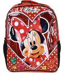 mochila escolar infantil disney escolar xeryus minnie love