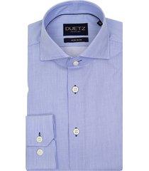 duetz1857 duetz 1857 overhemd dress streep blauw