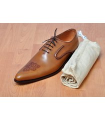 handmade mens oxford brown brogue dress leather shoes, mens formal leather shoes