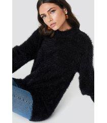 rut&circle ferdone balloon sleeve knit - black