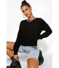 boxy trui, zwart